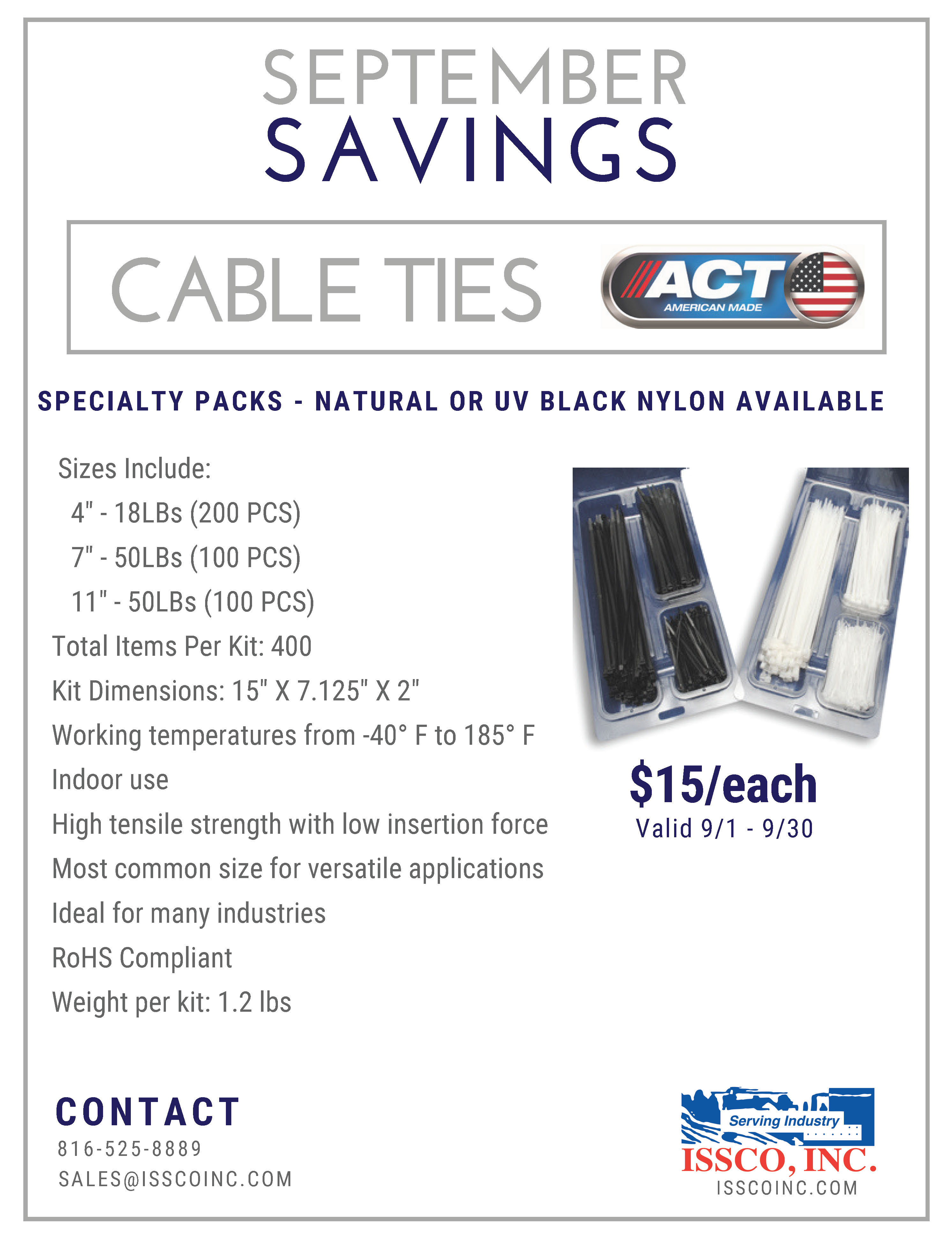 ACT CableTies PromoFlyer