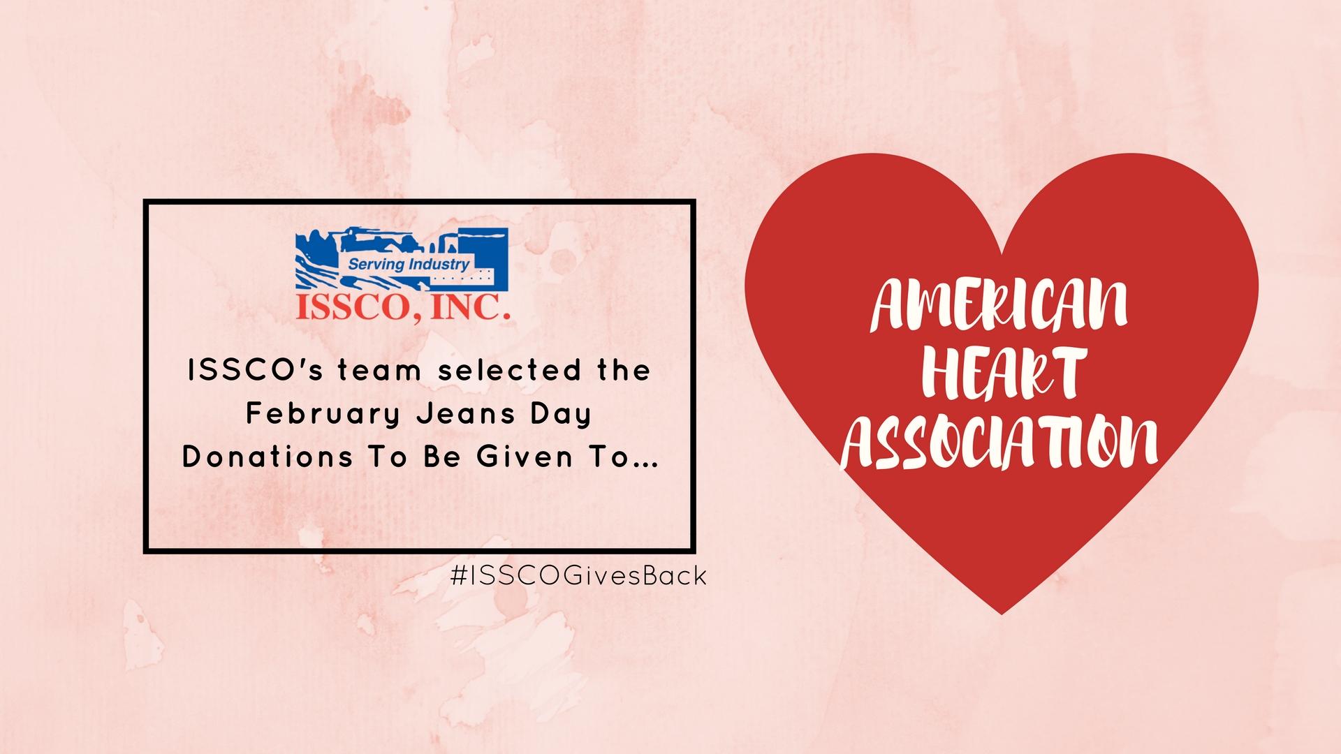 ISSCO Team Donates to American Heart Association