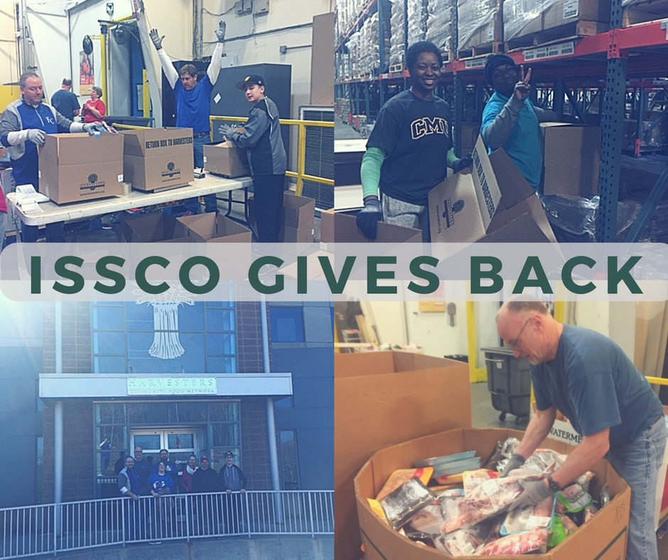 ISSCO Sorts & Repacks 13,000 Pounds of Food at Harvesters