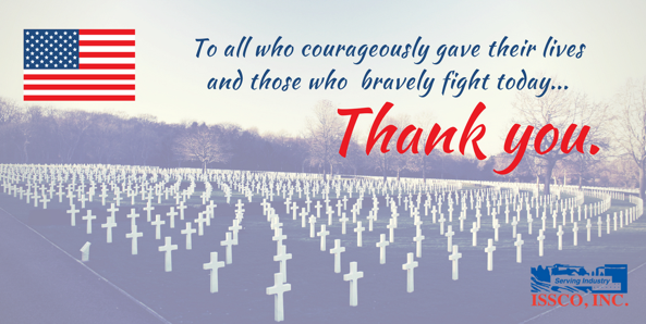 ISSCO, INC. Closed to Observe Memorial Day