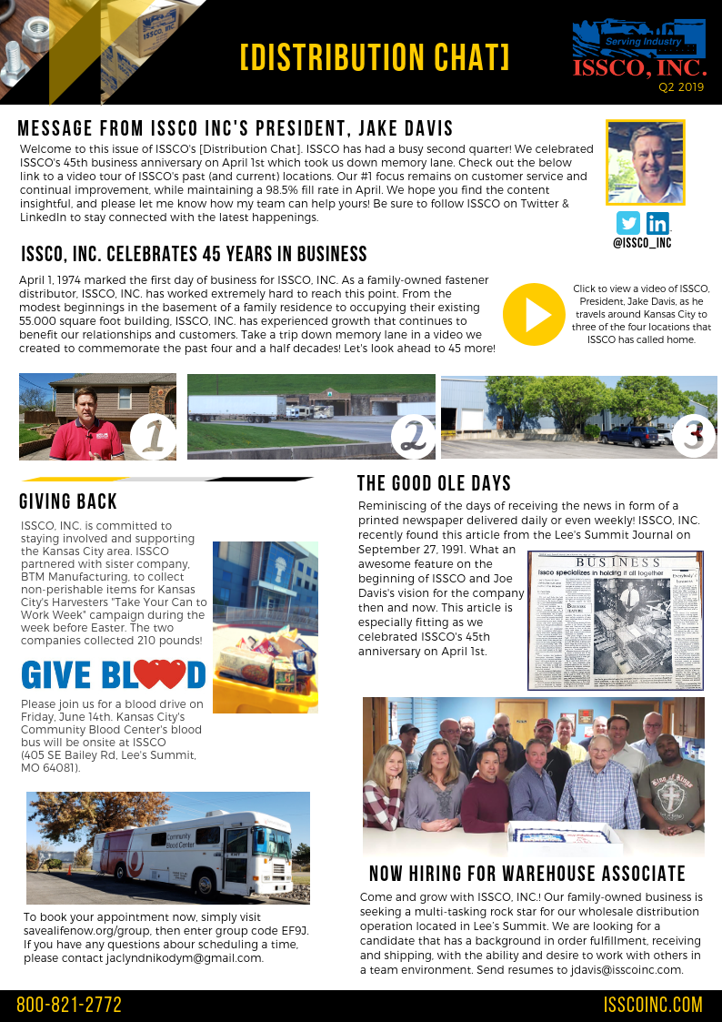 ISSCO Newsletter Q2 20191