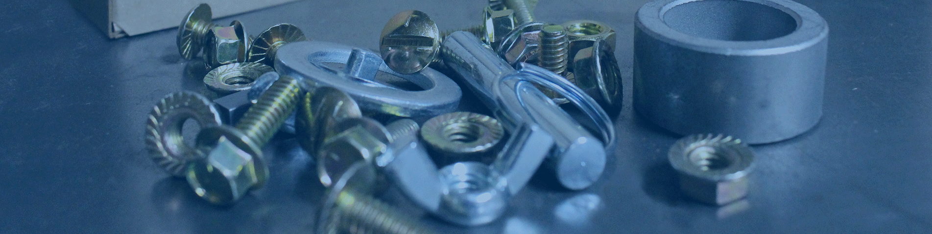 fasteners on a table