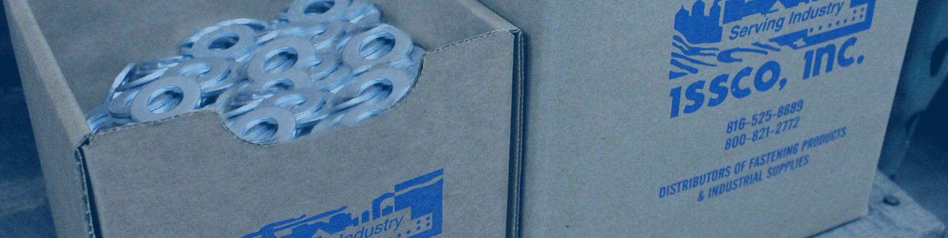 fasteners in an ISSCO brand box
