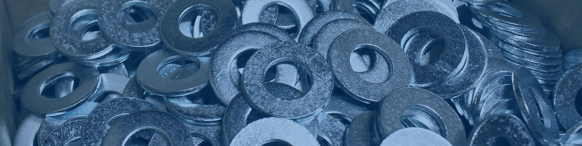 close up shot of fasteners inside of a box