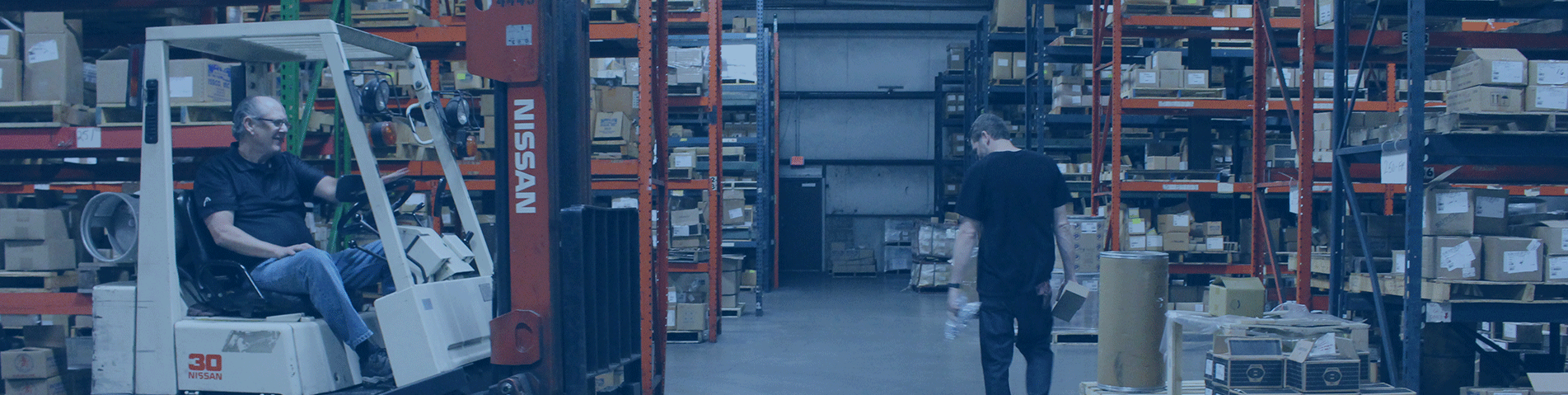 ISSCO workers working in their warehouse