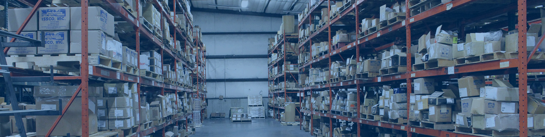 wide shot of ISSCO's warehouse
